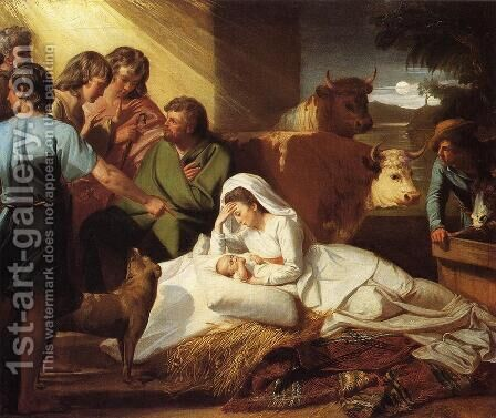 The Nativity by John Singleton Copley - Reproduction Oil Painting
