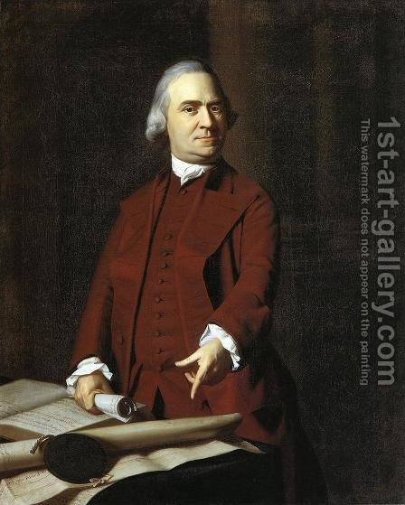 Samuel Adams by John Singleton Copley - Reproduction Oil Painting