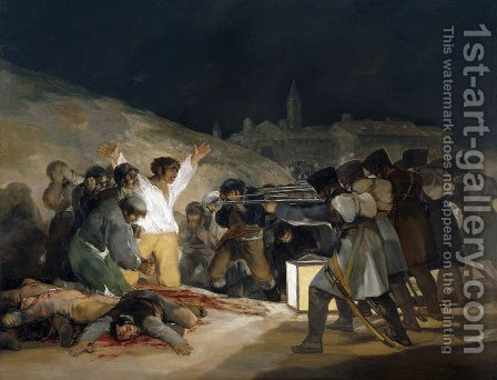 May 3  1808 by Goya - Reproduction Oil Painting