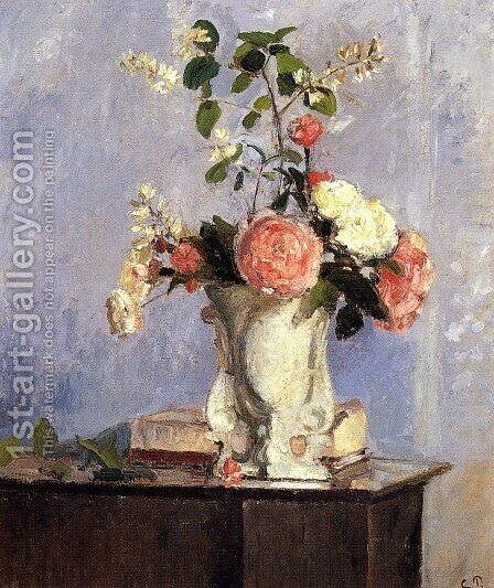 Bouquet Of Flowers by Camille Pissarro - Reproduction Oil Painting