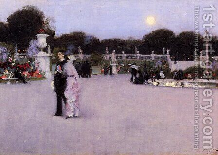 In The Luxembourg Gardens by Sargent - Reproduction Oil Painting