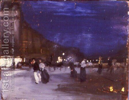 Paris Night Scene by Alfred Henry Maurer - Reproduction Oil Painting