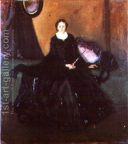Portrait Of Mrs  Dana by Alfred Henry Maurer - Reproduction Oil Painting