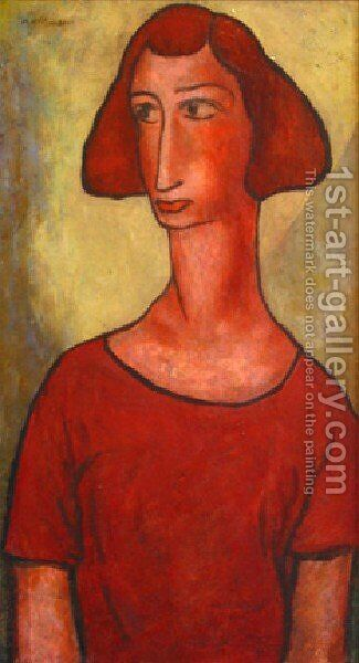 Red Girl by Alfred Henry Maurer - Reproduction Oil Painting