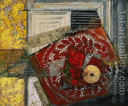 Still Life With Doily by Alfred Henry Maurer - Reproduction Oil Painting