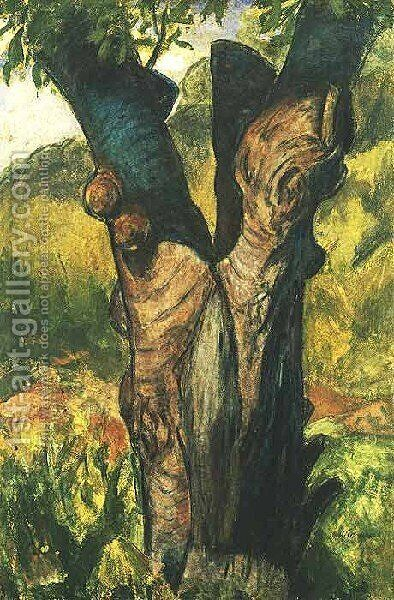 The Old Tree by Alfred Henry Maurer - Reproduction Oil Painting