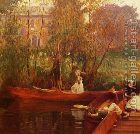 A Boating Party by Sargent - Reproduction Oil Painting