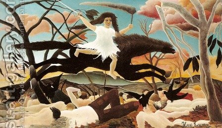 War by Henri Julien Rousseau - Reproduction Oil Painting