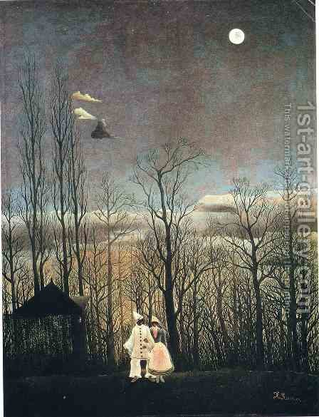 Carnival Evening by Henri Julien Rousseau - Reproduction Oil Painting