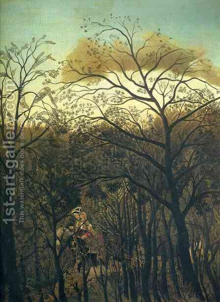 Rendezvous In The Forest by Henri Julien Rousseau - Reproduction Oil Painting