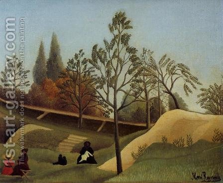 View Of The Fortifications by Henri Julien Rousseau - Reproduction Oil Painting