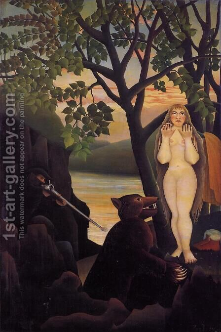 Unpleasant Surprise by Henri Julien Rousseau - Reproduction Oil Painting