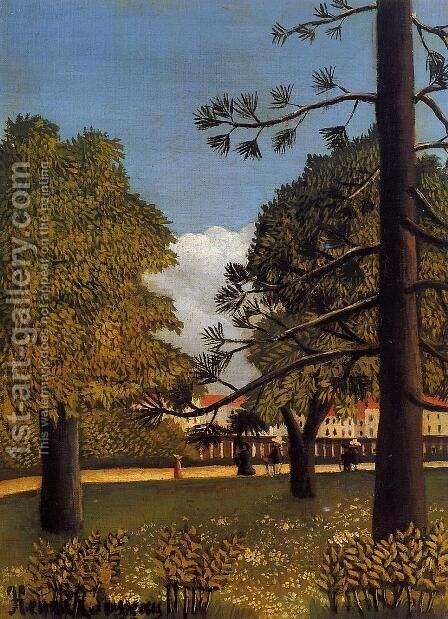 View Of Parc De Montsouris by Henri Julien Rousseau - Reproduction Oil Painting