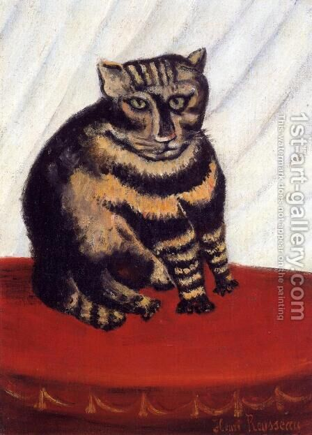 The Tiger Cat by Henri Julien Rousseau - Reproduction Oil Painting