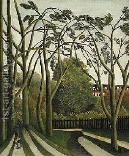 The Banks Of The Biere Near Bicere by Henri Julien Rousseau - Reproduction Oil Painting