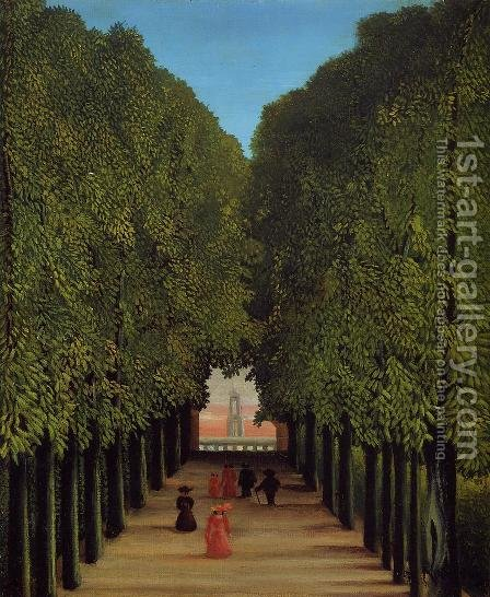 The Avenue In The Park At Saint Cloud by Henri Julien Rousseau - Reproduction Oil Painting