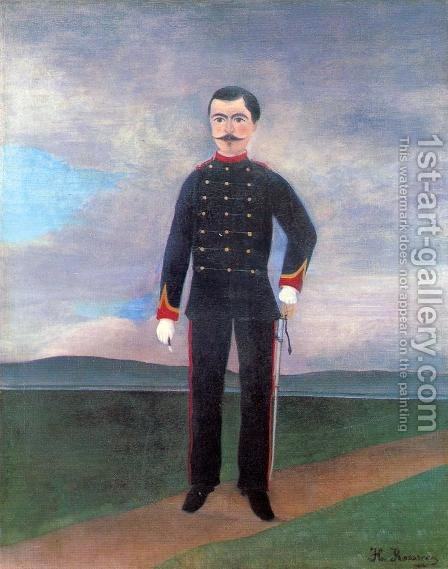 Portrait Of Frumence Biche In Uniform by Henri Julien Rousseau - Reproduction Oil Painting