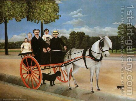 Old Juniors Cart by Henri Julien Rousseau - Reproduction Oil Painting