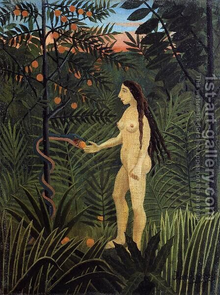 Eve And The Serpent by Henri Julien Rousseau - Reproduction Oil Painting