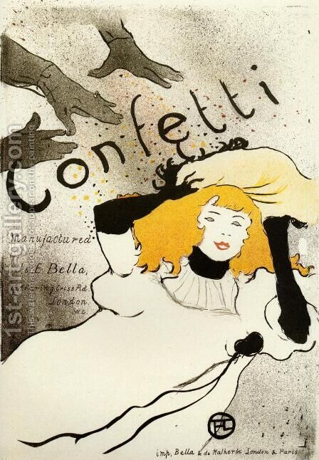 Confetti by Toulouse-Lautrec - Reproduction Oil Painting