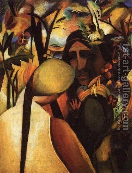 Indians by August Macke - Reproduction Oil Painting