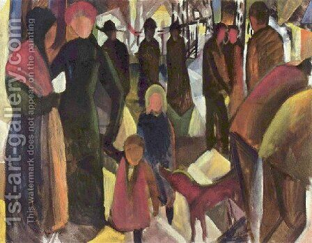 Departure by August Macke - Reproduction Oil Painting