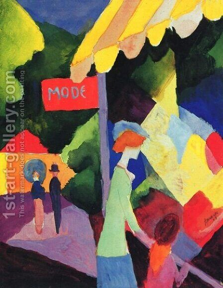 Fashion Store Window by August Macke - Reproduction Oil Painting
