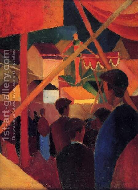 Tightrope Walker (Seiltanzer)  1914 by August Macke - Reproduction Oil Painting