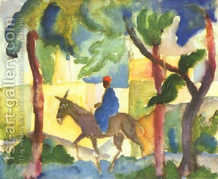 Donkey Horseman by August Macke - Reproduction Oil Painting