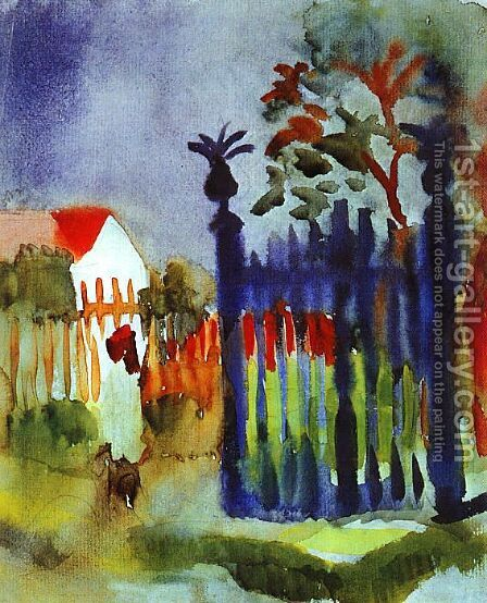 Garden Gate by August Macke - Reproduction Oil Painting
