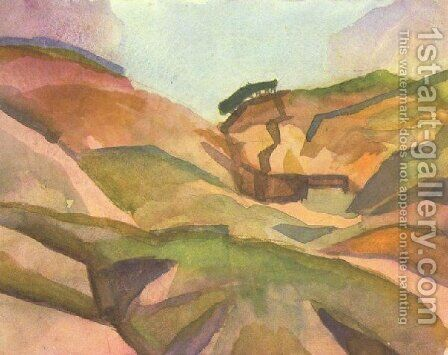 Landcape by August Macke - Reproduction Oil Painting