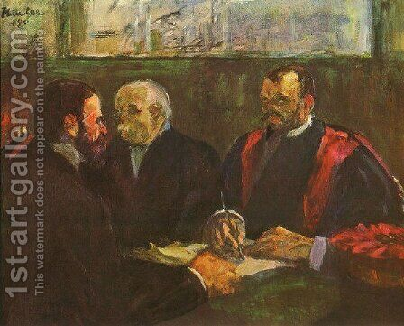 Examination At Faculty Of Medicine by Toulouse-Lautrec - Reproduction Oil Painting