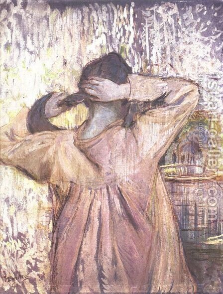 Combing by Toulouse-Lautrec - Reproduction Oil Painting
