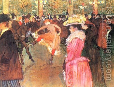 Party In Thr Moulin Rouge by Toulouse-Lautrec - Reproduction Oil Painting