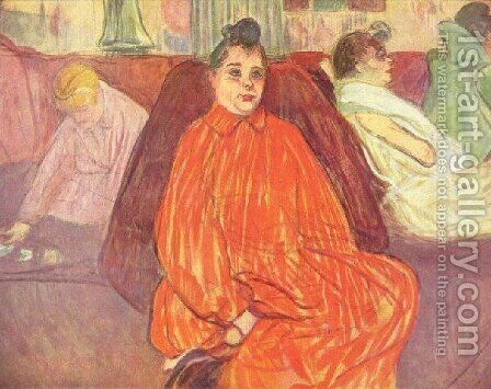 The Madam by Toulouse-Lautrec - Reproduction Oil Painting