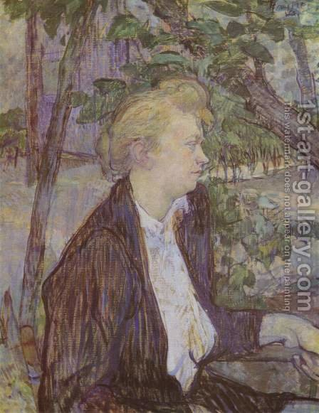 Woman In Garden by Toulouse-Lautrec - Reproduction Oil Painting
