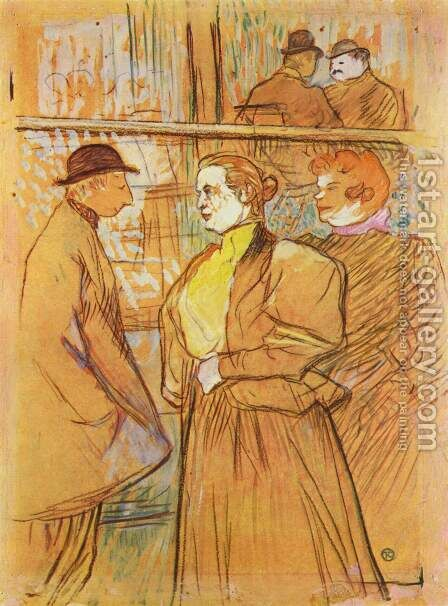 In The Moulin De La Galette Ii by Toulouse-Lautrec - Reproduction Oil Painting