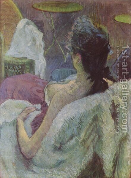 Resting Model by Toulouse-Lautrec - Reproduction Oil Painting
