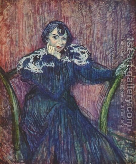 Berthe Bady by Toulouse-Lautrec - Reproduction Oil Painting