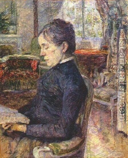 Adele De Toulouse Lautrec In The Salon At Malrome by Toulouse-Lautrec - Reproduction Oil Painting