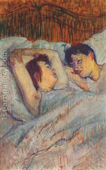 In Bed by Toulouse-Lautrec - Reproduction Oil Painting