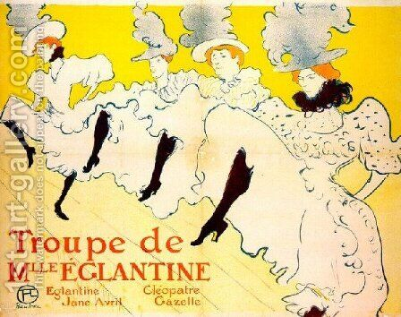La Troupe De Mlle Eglantine by Toulouse-Lautrec - Reproduction Oil Painting