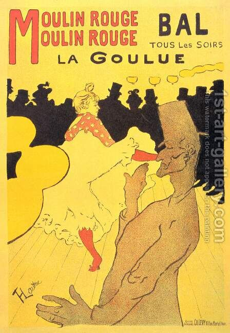 Moulin Rouge La Goulue by Toulouse-Lautrec - Reproduction Oil Painting