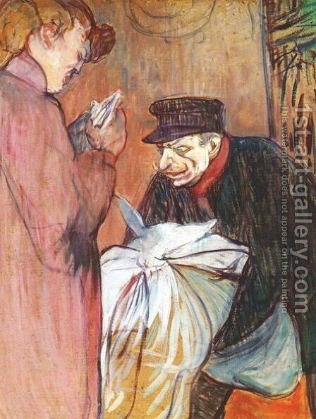 The Brothel Laundryman by Toulouse-Lautrec - Reproduction Oil Painting