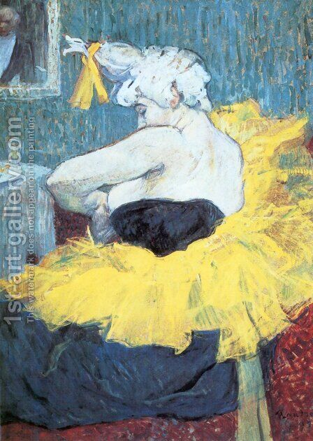 The Clownesse Cha U Kao At The Moulin Rouge Ii by Toulouse-Lautrec - Reproduction Oil Painting