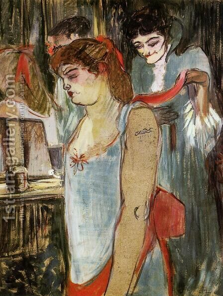 The Tattooed Woman by Toulouse-Lautrec - Reproduction Oil Painting