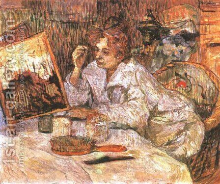 Woman At Her Toilette by Toulouse-Lautrec - Reproduction Oil Painting