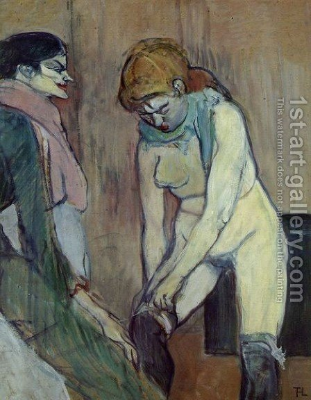 Stocking by Toulouse-Lautrec - Reproduction Oil Painting