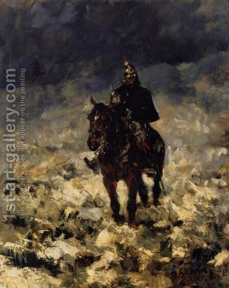Cuirassxier by Toulouse-Lautrec - Reproduction Oil Painting
