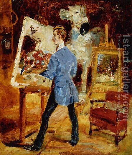 Princeteau In His Studio by Toulouse-Lautrec - Reproduction Oil Painting